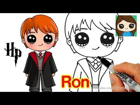 How To Draw Ron Weasley Easy Harry Potter Youtube Desenhos