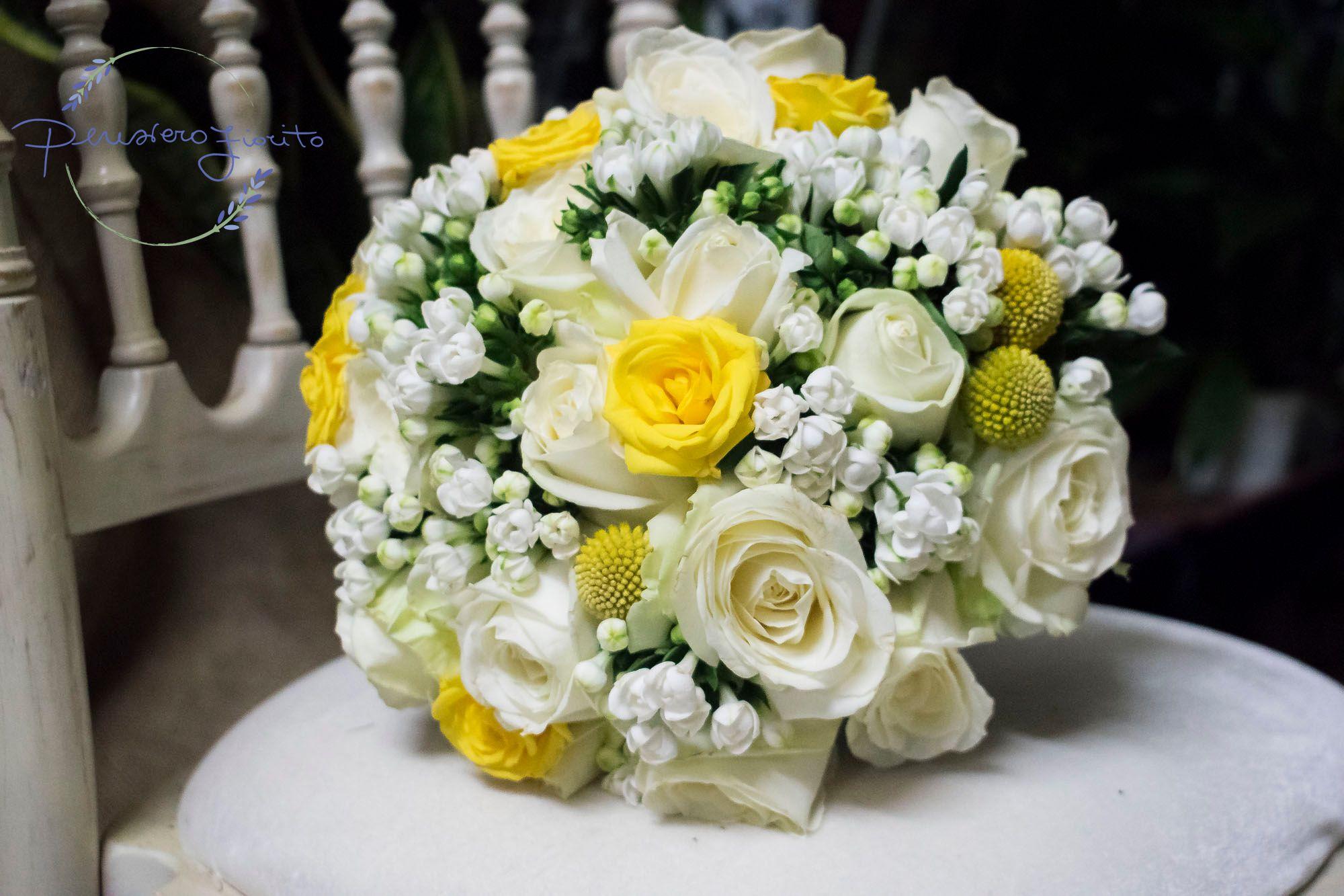 Bouquet Sposa Bianco E Giallo.Pin Su Bouquet Sposa