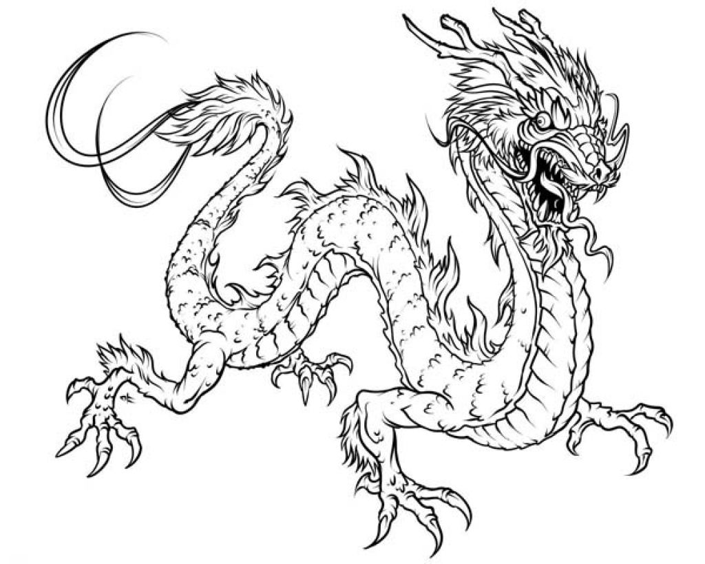 Chinese Dragon Coloring Pages Getcoloringpages With Regard To