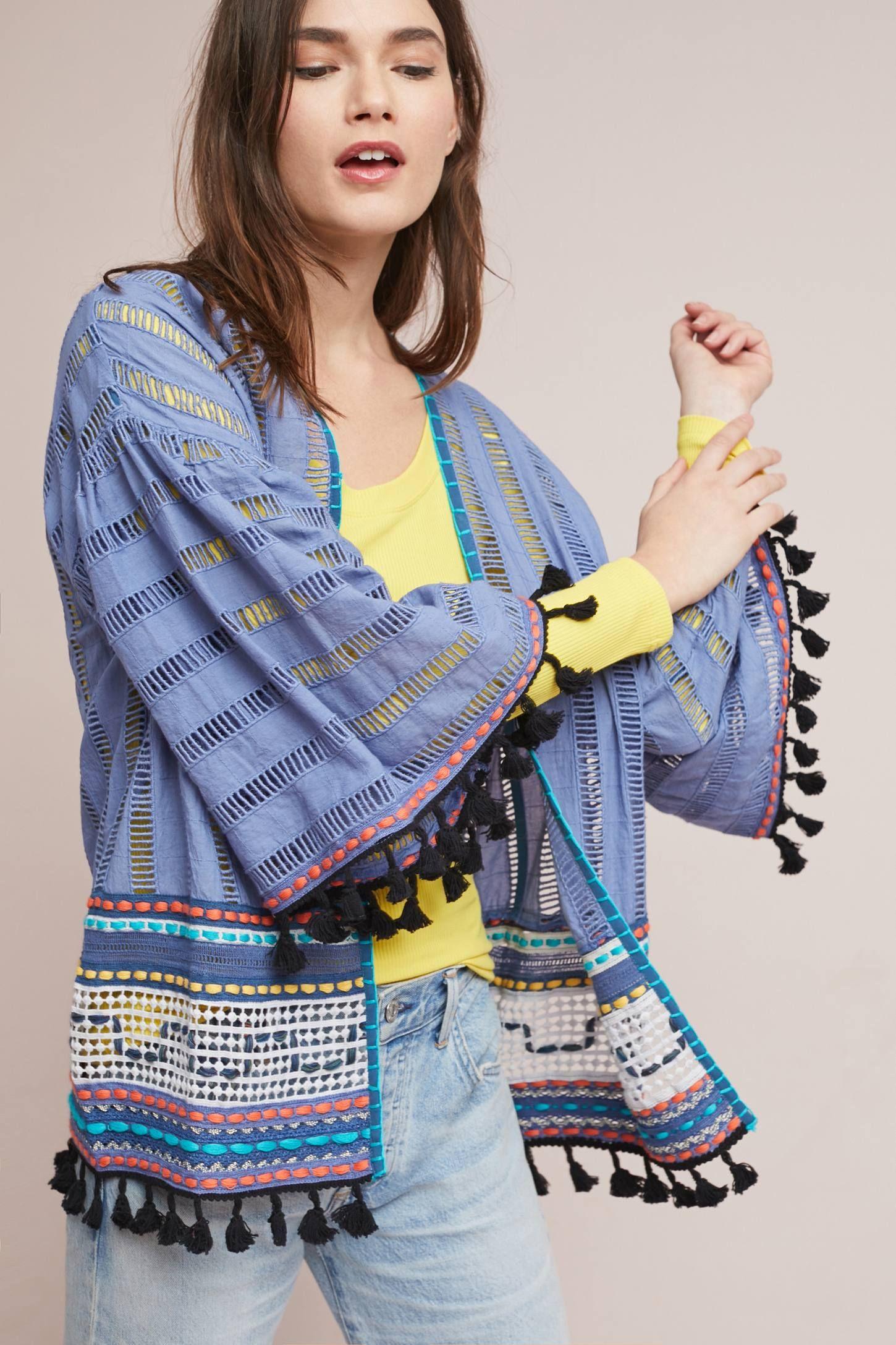 Alina Textured Kimono ad AnthroFave AnthroRegistry