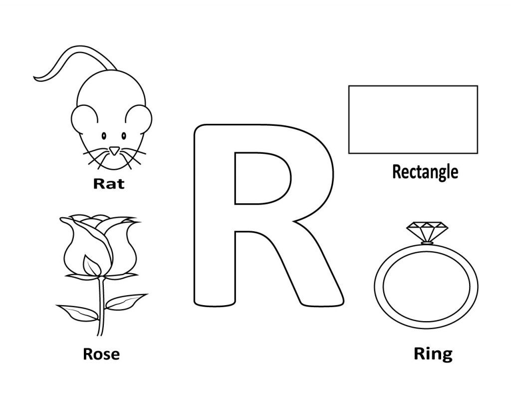 Coloring Pages With Things That Start With R Letter R Coloring Pages To Print Coloring Pages