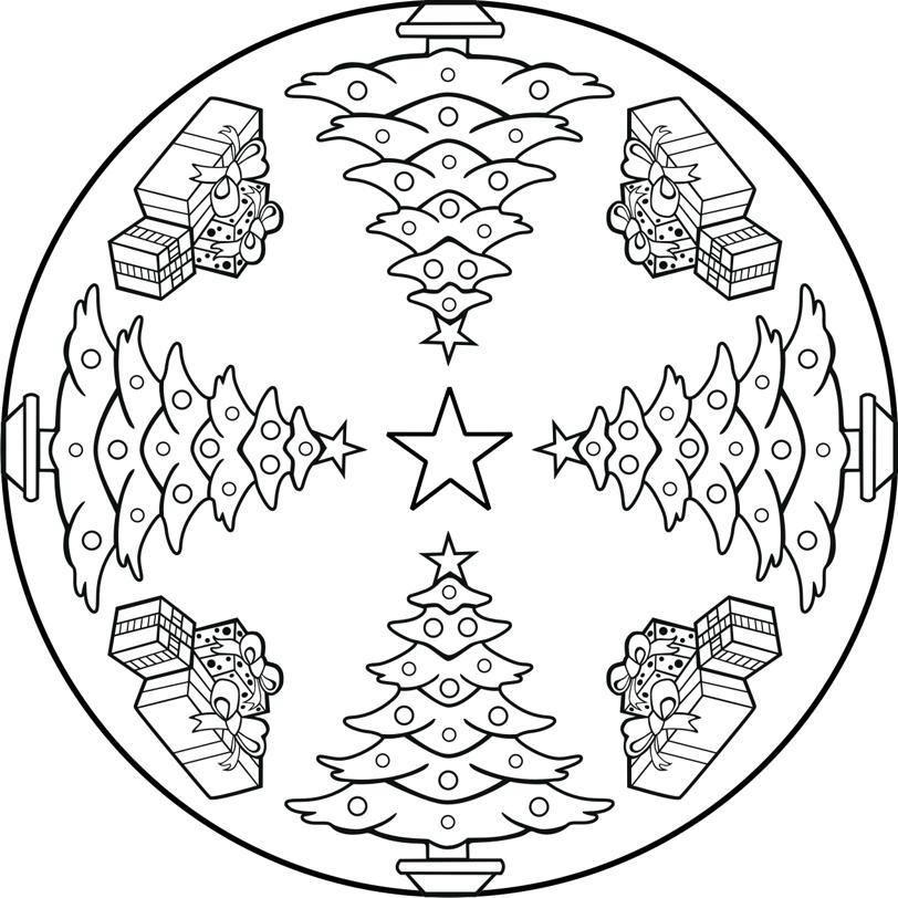 Mandala De Noel Mandalas de Noël   Le Blog de Jackie   Christmas mandala, Mandala