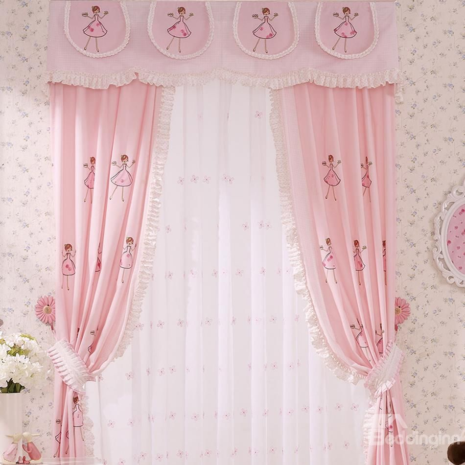 curtain girls fairy and print premium curtains kids unicorn decor
