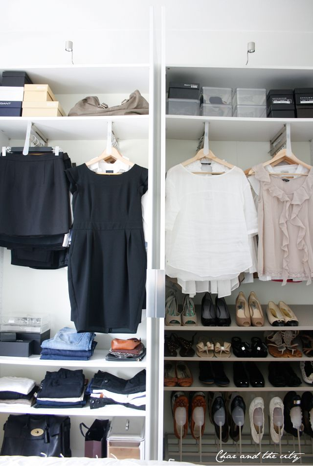 Love this closet! Ikea Pax [Char and the City fabulous