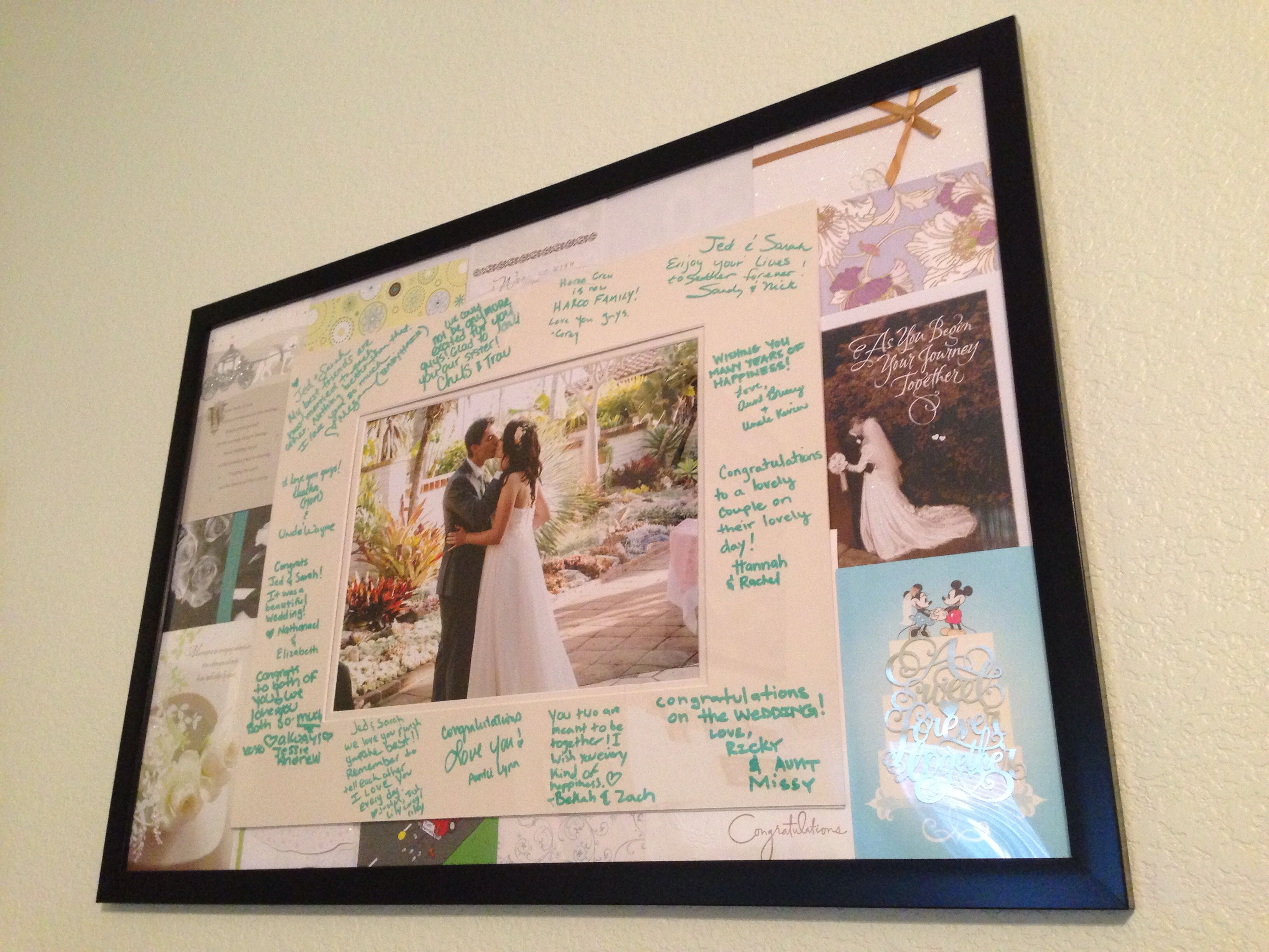 Wedding Card Collage Border. Plus, Guest Book Matted Frame. Two ...