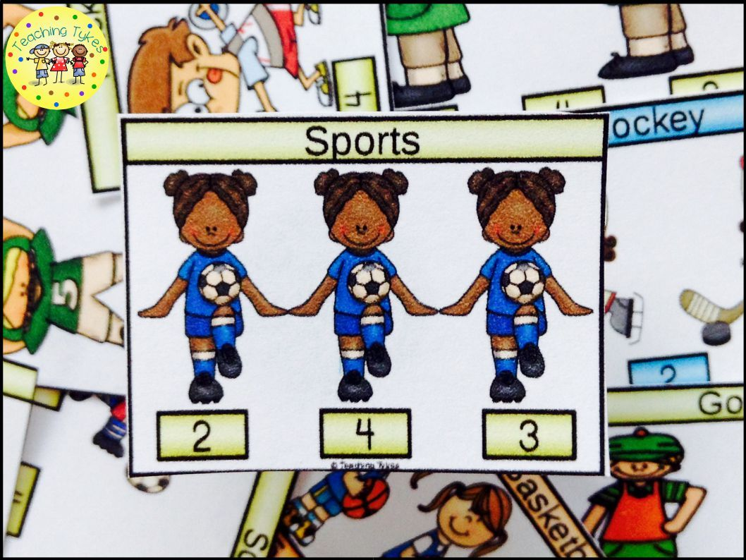 Sports Activity To Practice Counting Sports