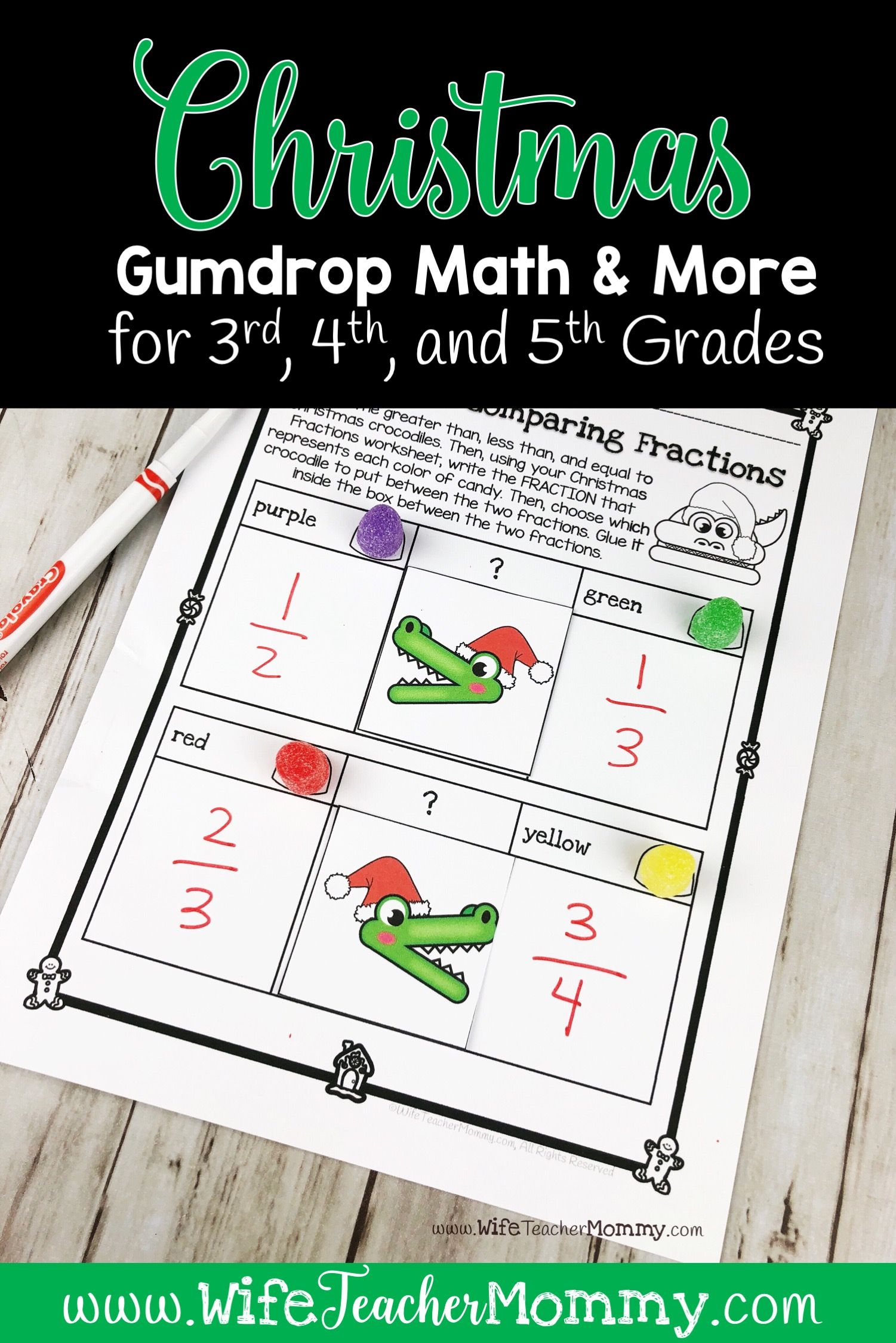 Christmas Gumdrop Math Activities Amp More For 3rd 4th 5th