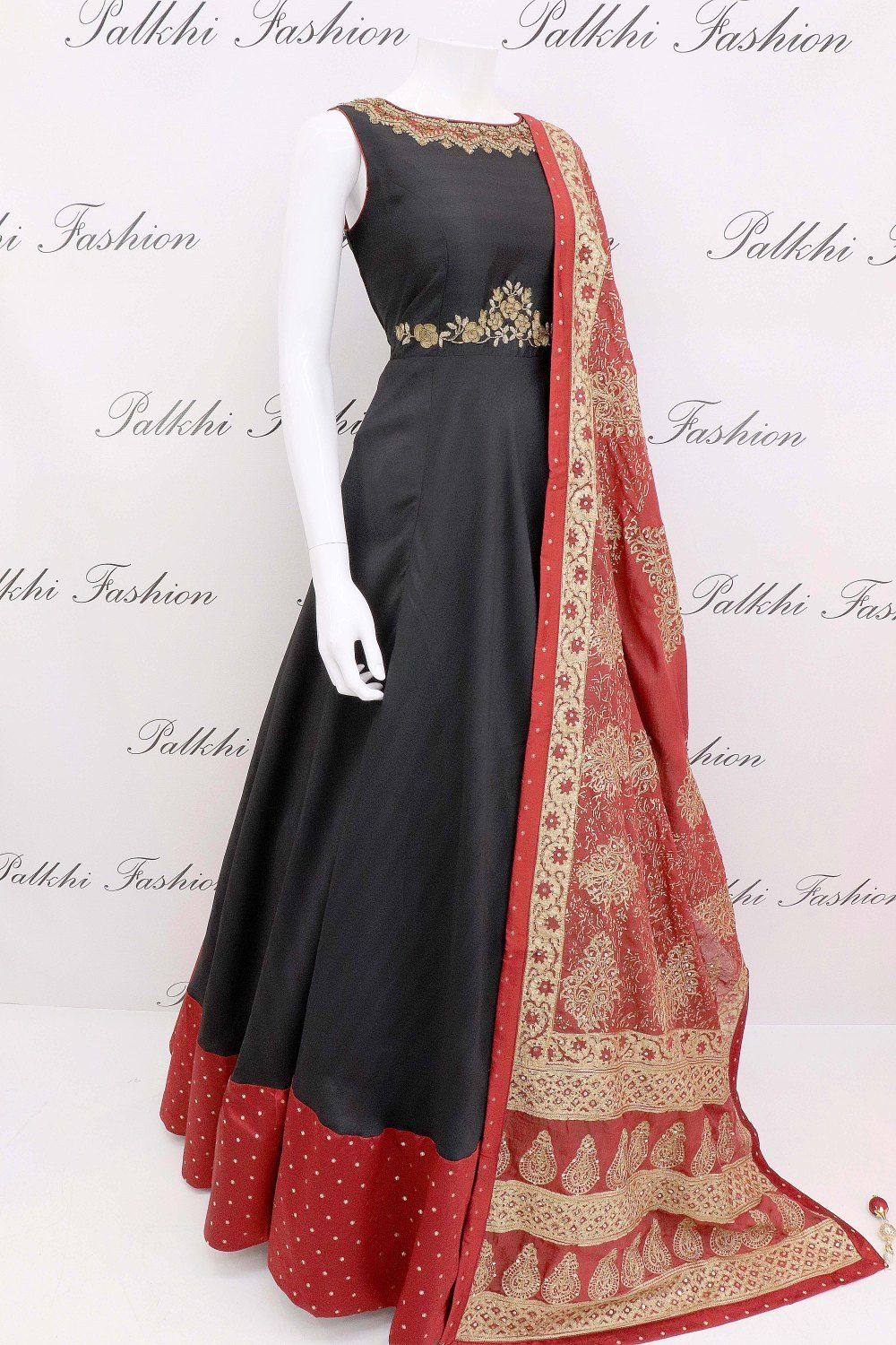 1e9756bf3d Appealing Navy Blue Soft Silk Designer Outfit with Beautiful Silk Dupatta