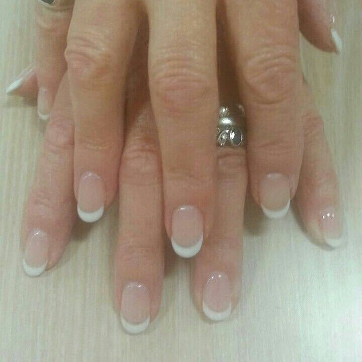 Biosculpture Gel french nail overlay | Nail Bar | Pinterest | French ...