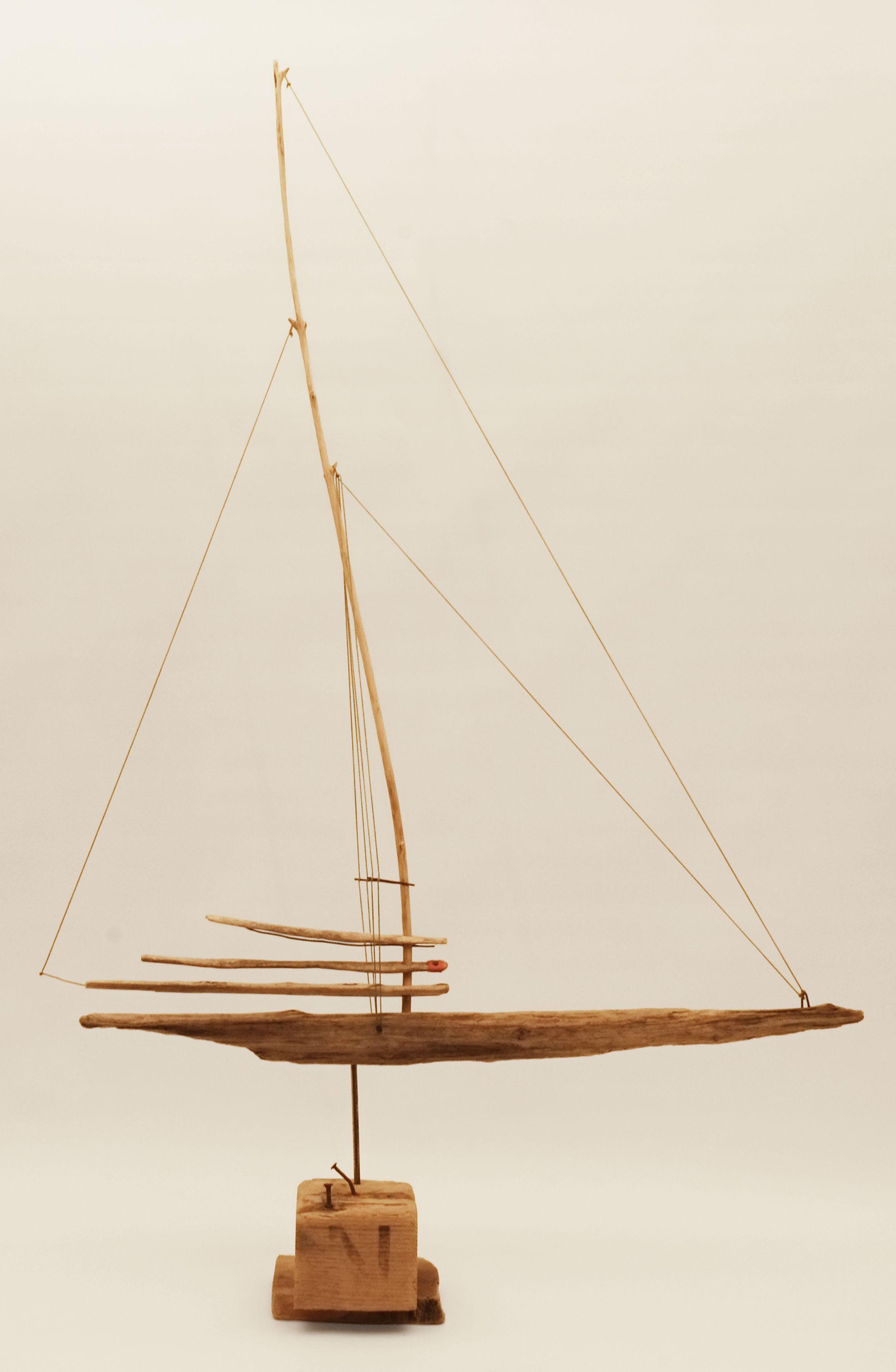 Art Sculpture Driftwood Bois Flotte Madera Mar 89hx65wx20 Cm