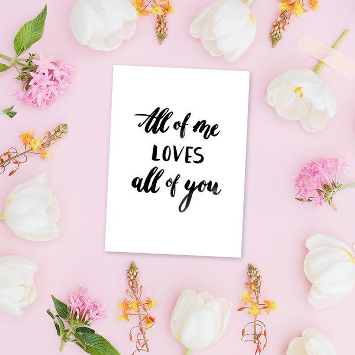All Of Me Loves All Of You Poster Hochzeit The Little Wedding Corner Shop Diy Hochzeitsdeko Hochzeitsgeschenk Hochzeitsdekoration