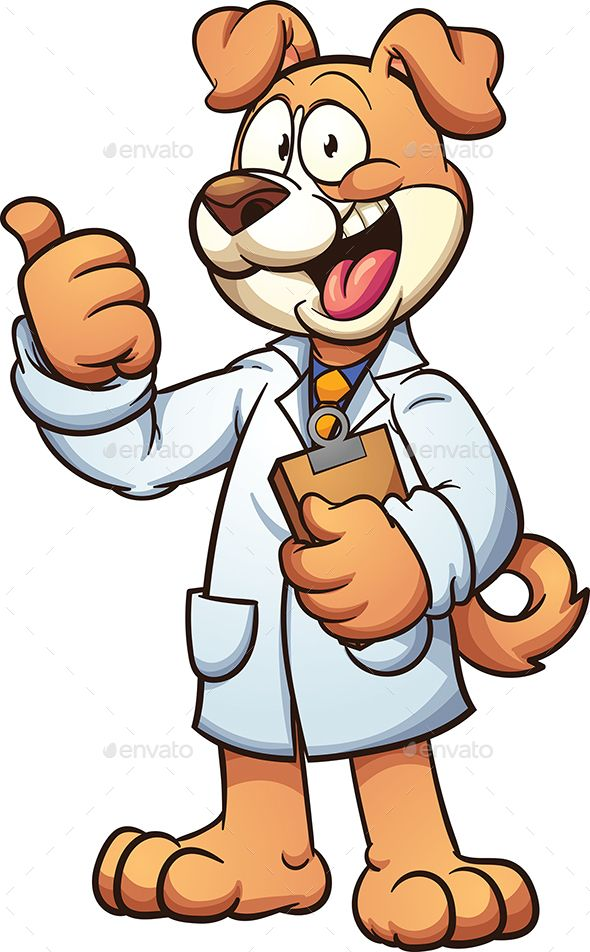 Dog Doctor With Images Dog Doctor Dogs Cartoon Illustration