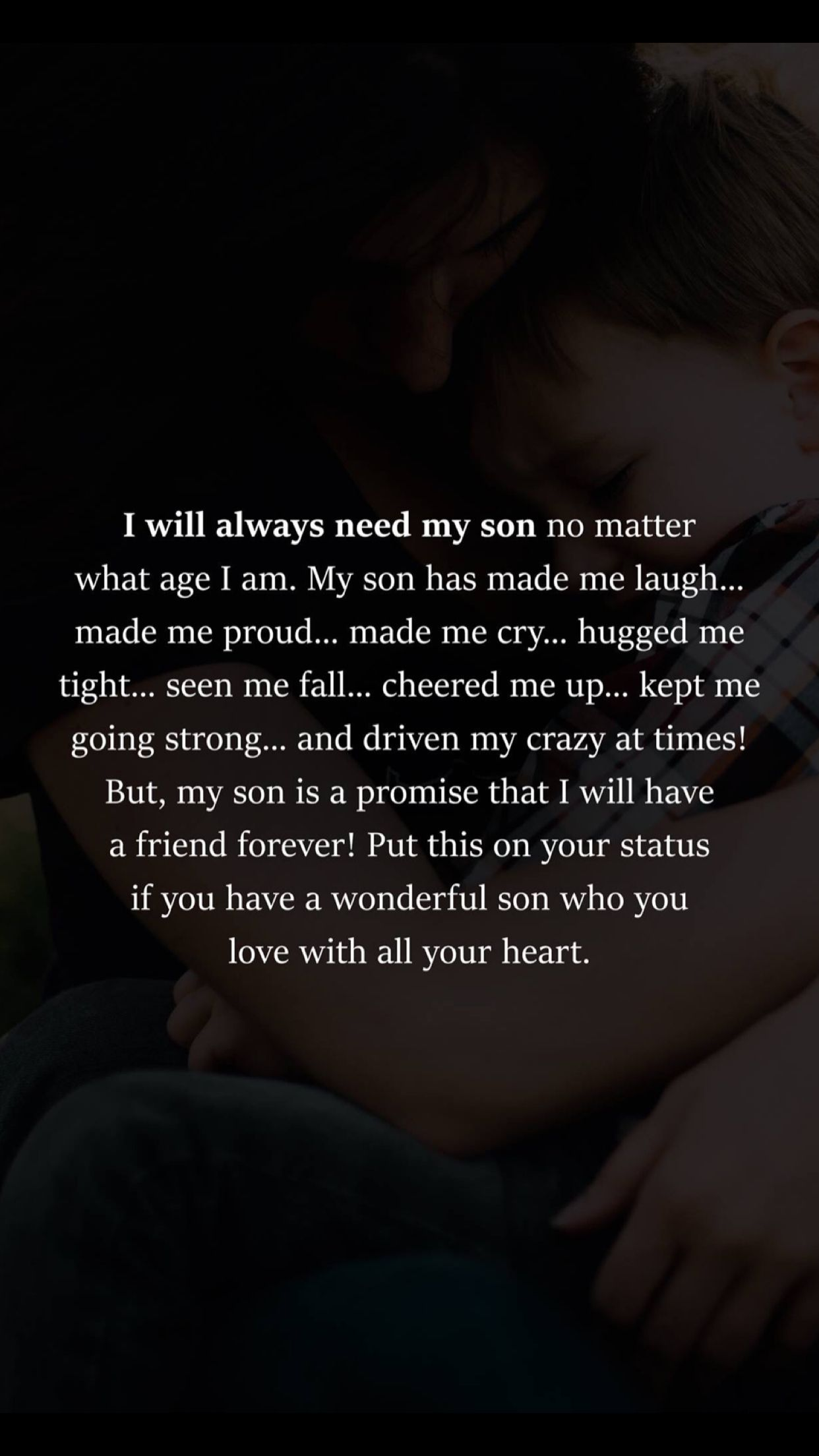 for LJ and Anthony | Son quotes, Mother son quotes, Mother ...