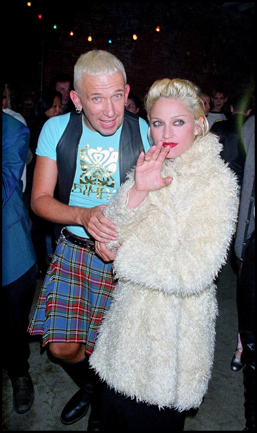 """madonnabulgaria: """" 1994, Madonna at Jean Paul Gaultier Perfume Launch in New York City """" 