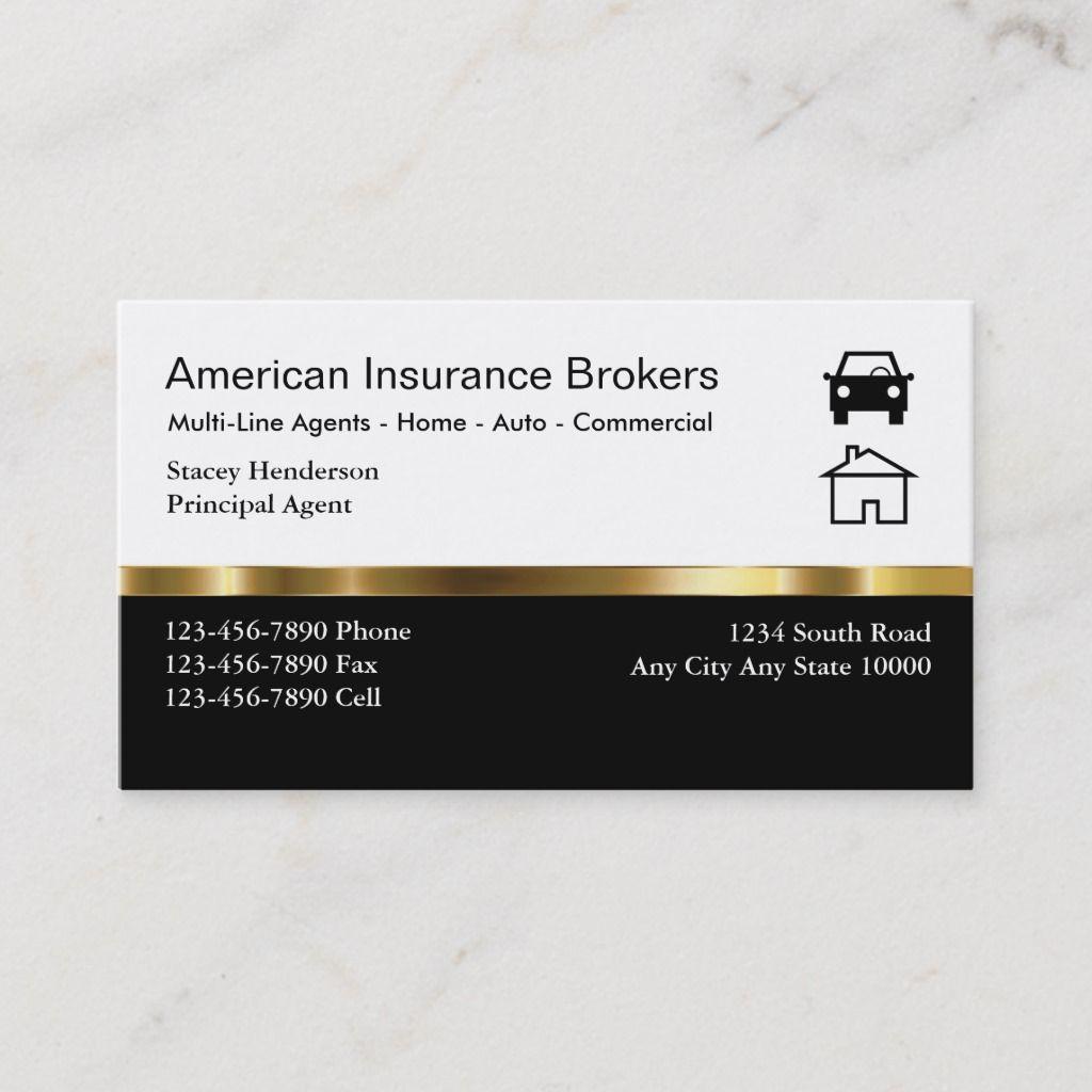 Insurance Broker Business Cards Insurance Broker Commercial