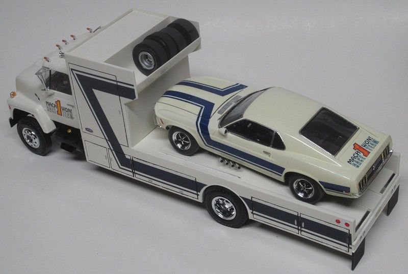 Malco Gasser Mustang And Ford Race Car Hauler Radio Control Cars