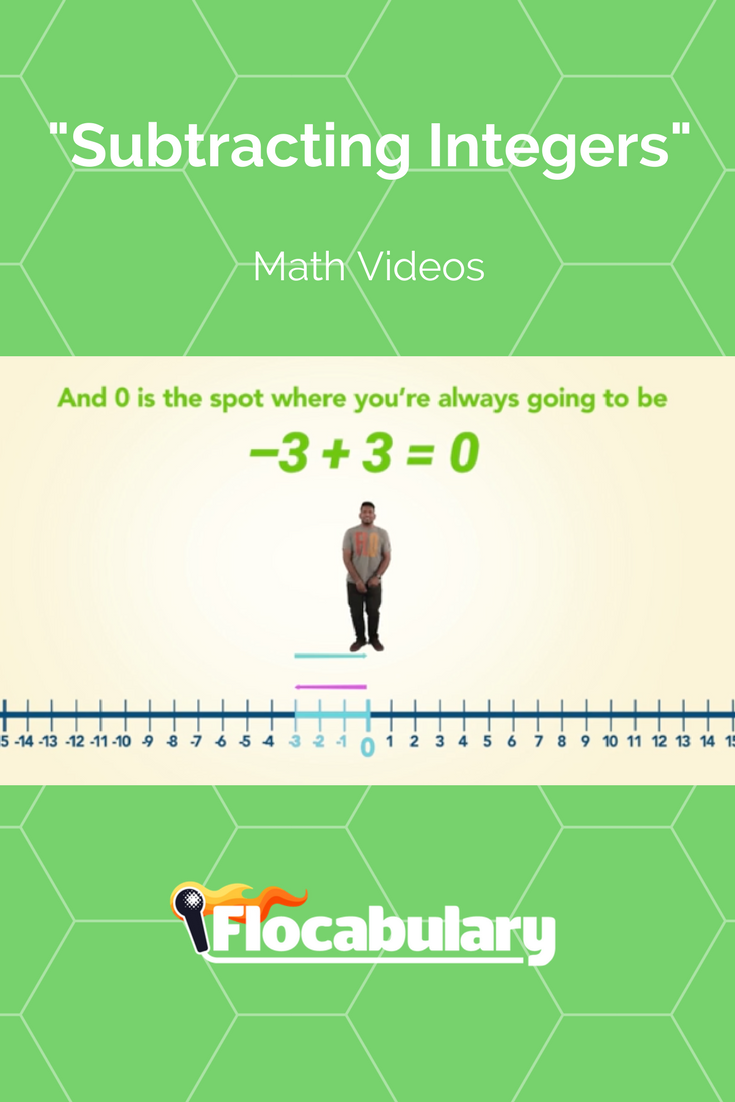 This song teaches students to subtract positive and