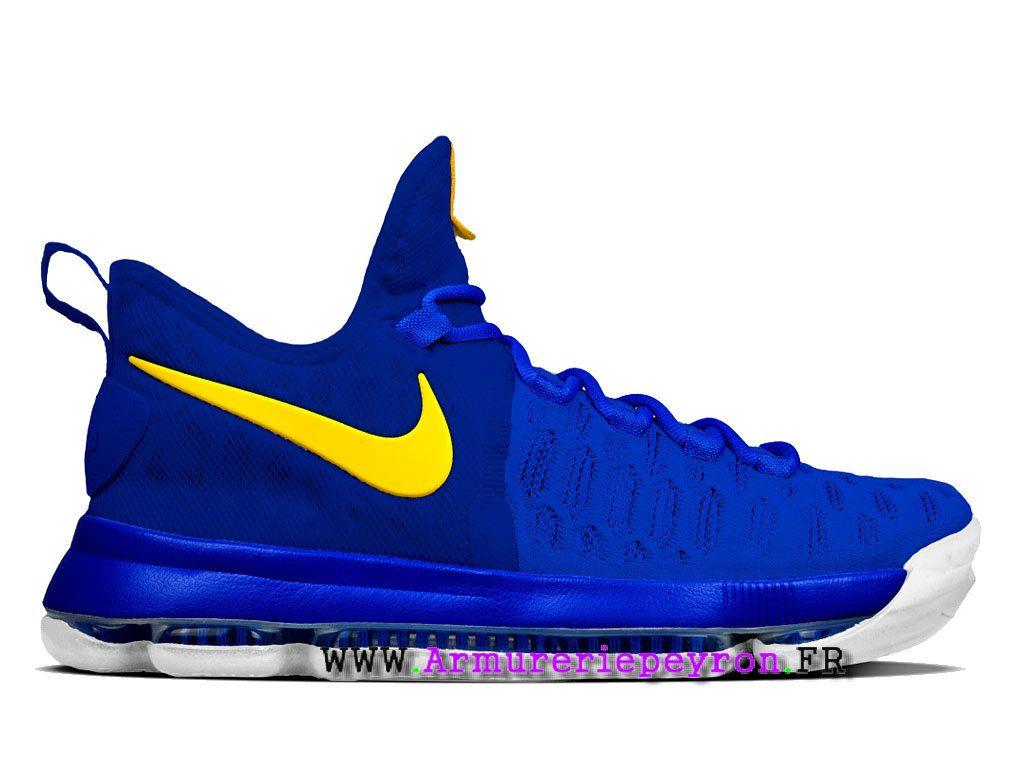 online retailer f3419 fee52 Nike KD 9 ID Prix - Chaussures De BasketBall Pour Homme Bleu Jaune