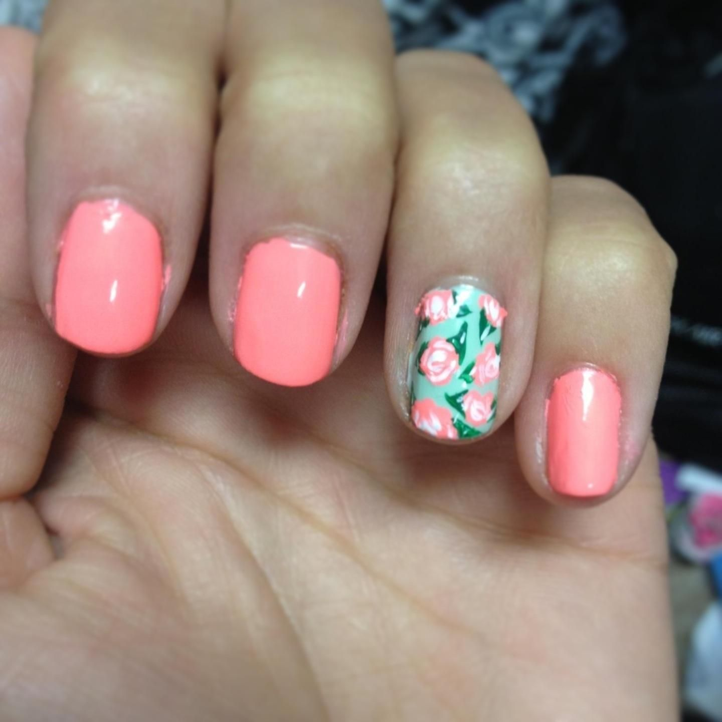 Cute Flower Nail Designs ... | Nail Designs | Pinterest | Flower ...
