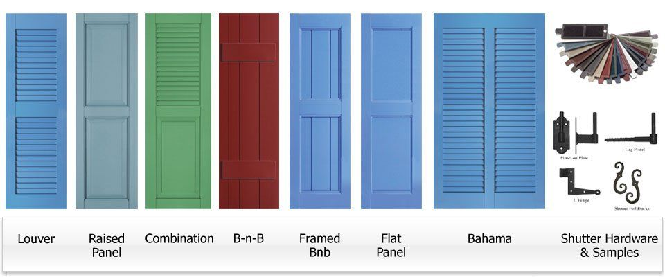 Some Exterior Shutters Are Solid With No Louvers But Other