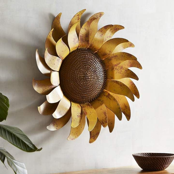 Beautiful sunflower metal wall art! This would be amazing in a ...