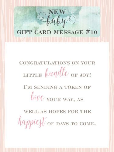 congratulations on your bundle of joy gift message