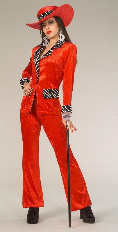 01a4187bcb Adult Red Uptown Girl Pimp Costume - Candy Apple Costumes - Bad-Ass Babe  Costumes