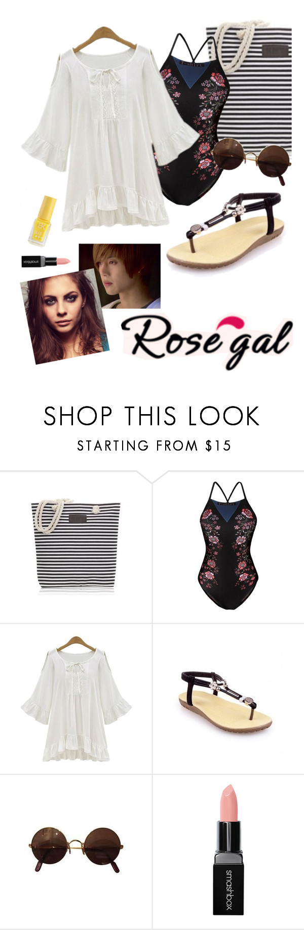 """rosegal contest!"" by ivyfanfic ❤ liked on Polyvore featuring Smashbox"