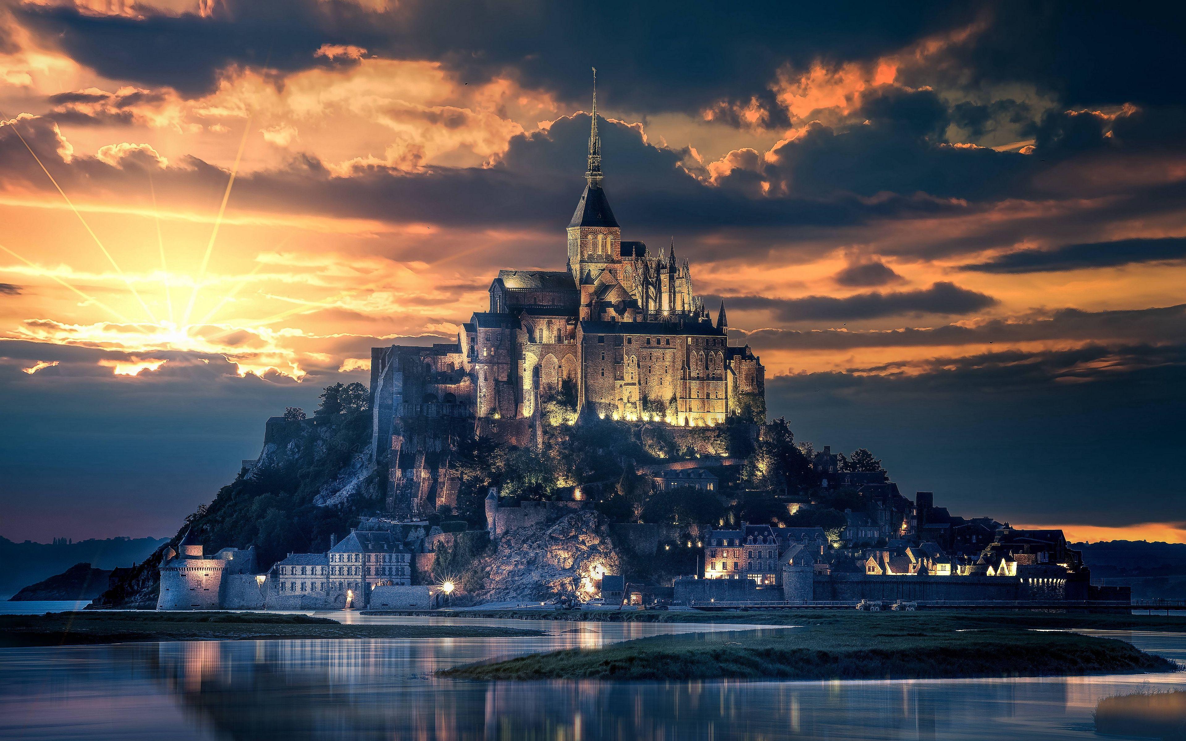 Mont Saint Michelfrancecastleisland France Wallpaper Beautiful