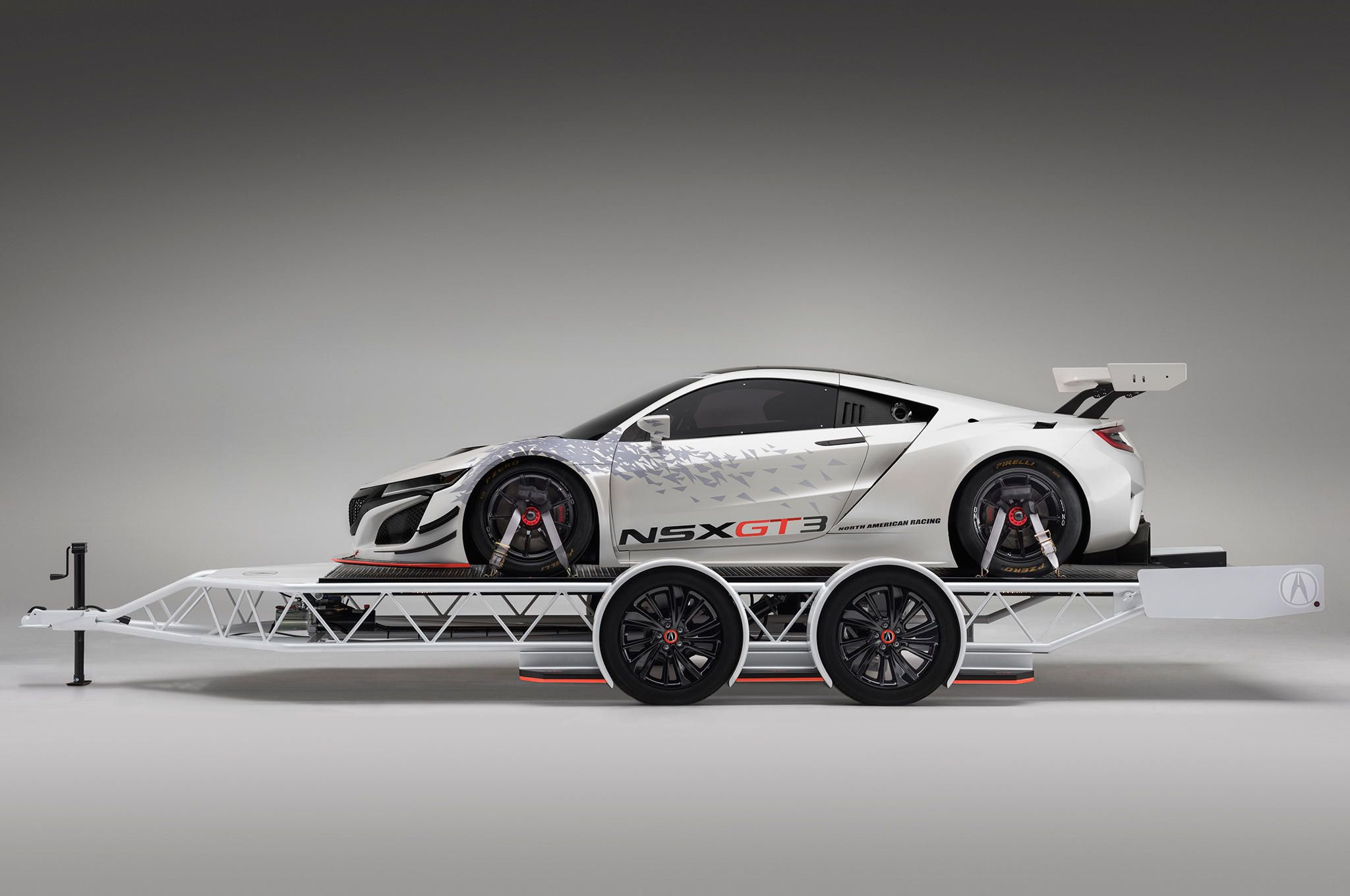 Modified Acura Mdx To Tow Nsx Gt3 Racer To Sema Nsx Acura Acura Mdx