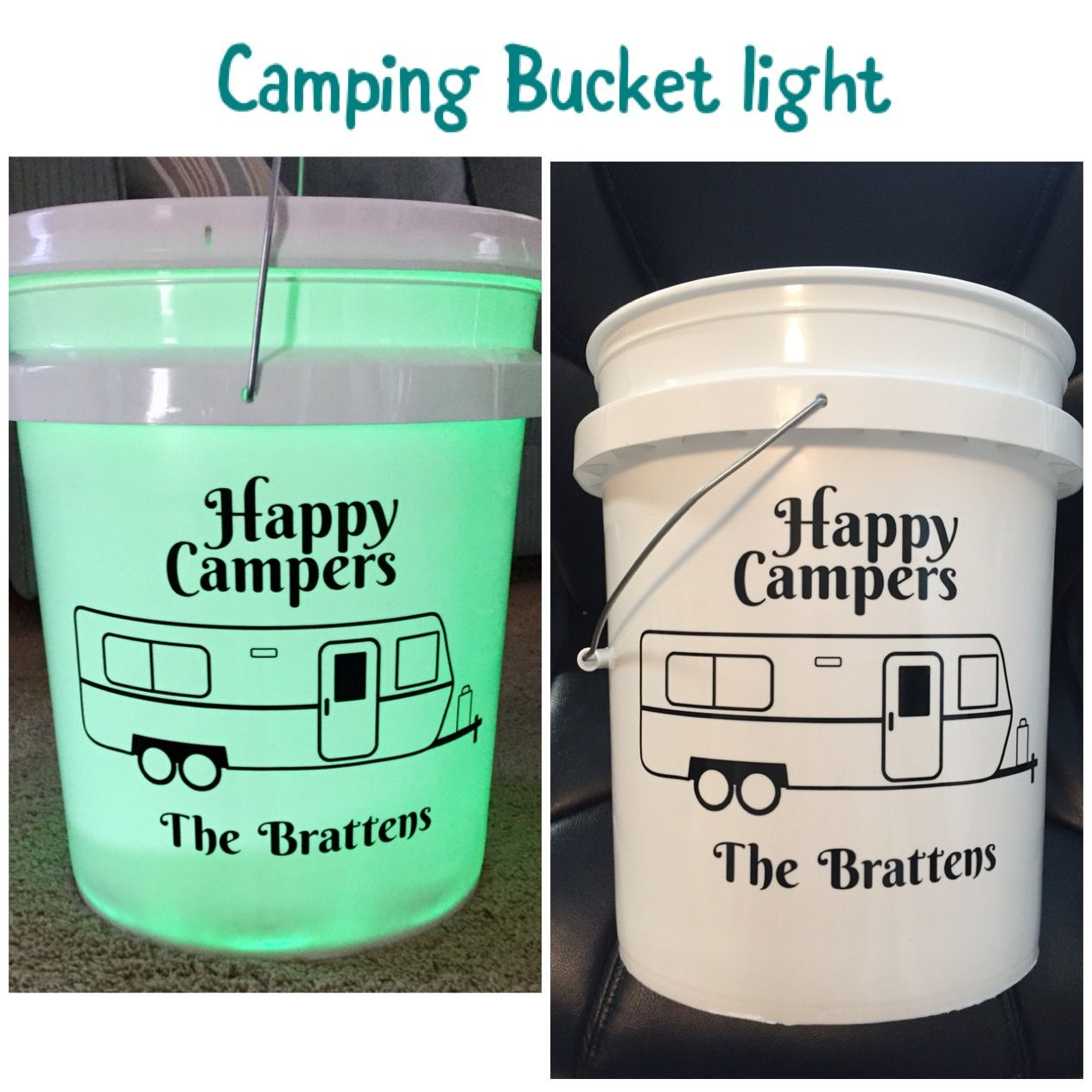 Camping Light I Made Using A Bucket Happy Campers