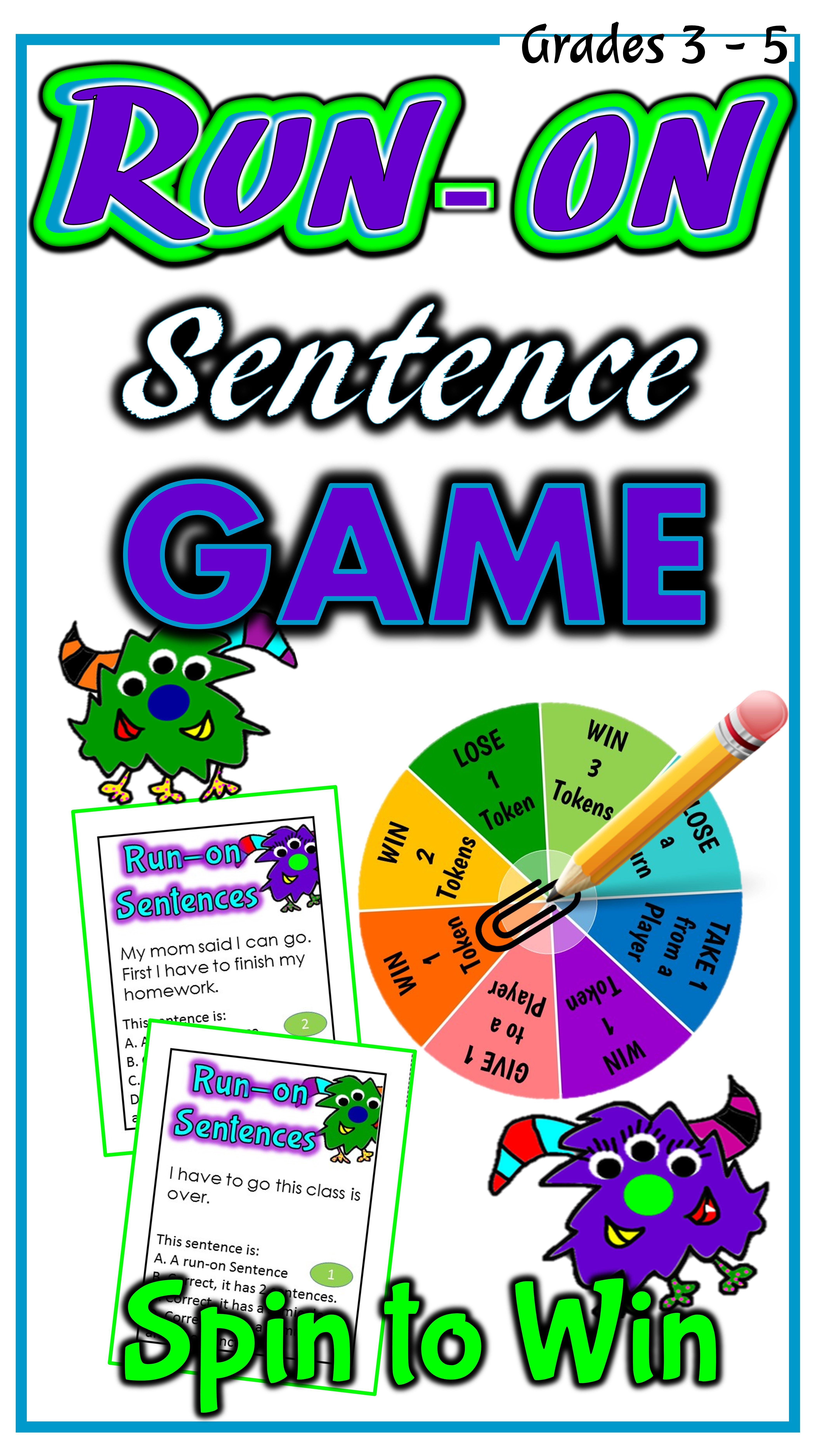 Run On Sentences Game