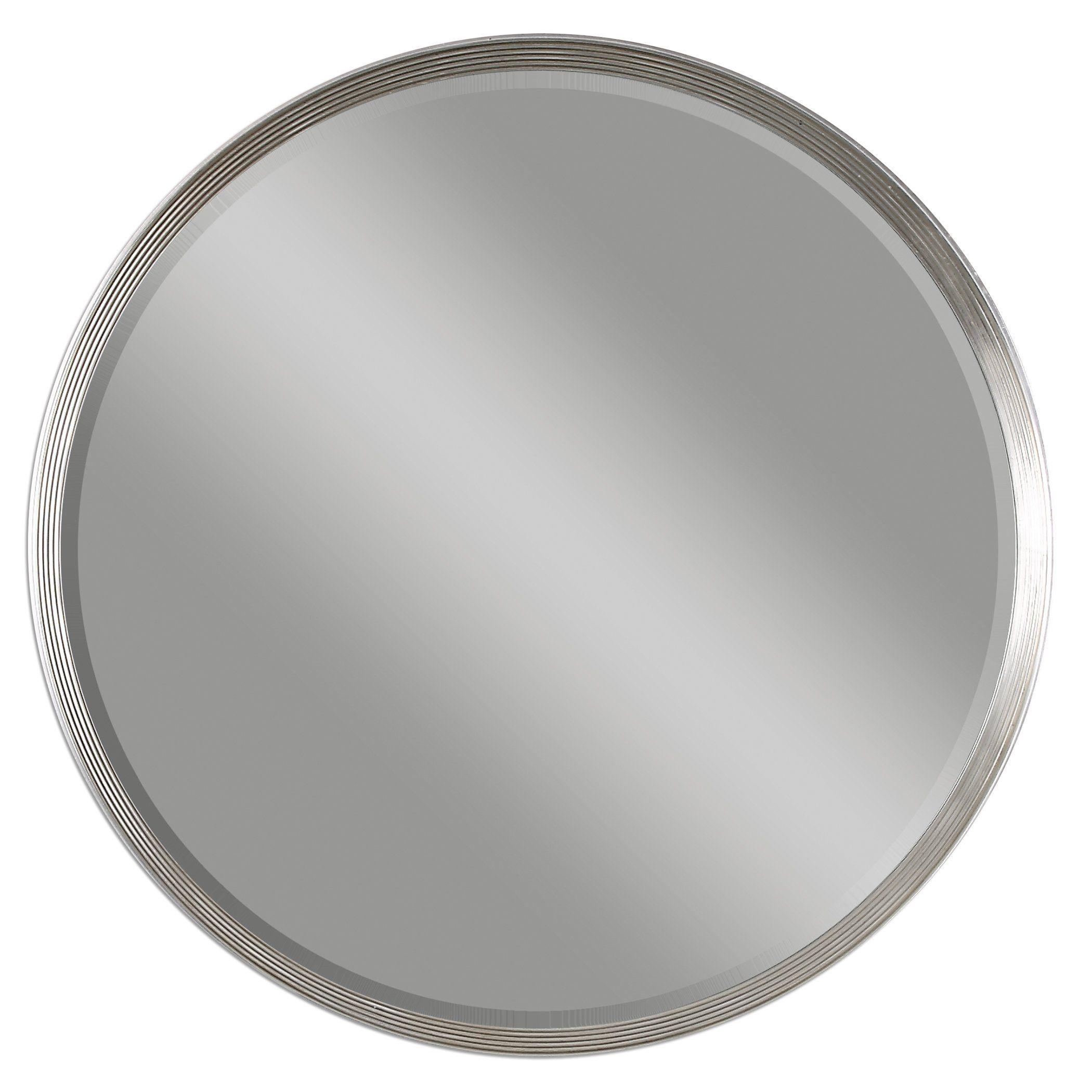 Serenza Round Silver Mirror In 2021 Mirror Wall Antique Mirror Wall Mirror Design Wall
