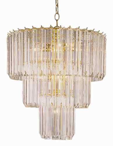 Trans Global Lighting Back To Basics 9 Light 3 Tier Acrylic