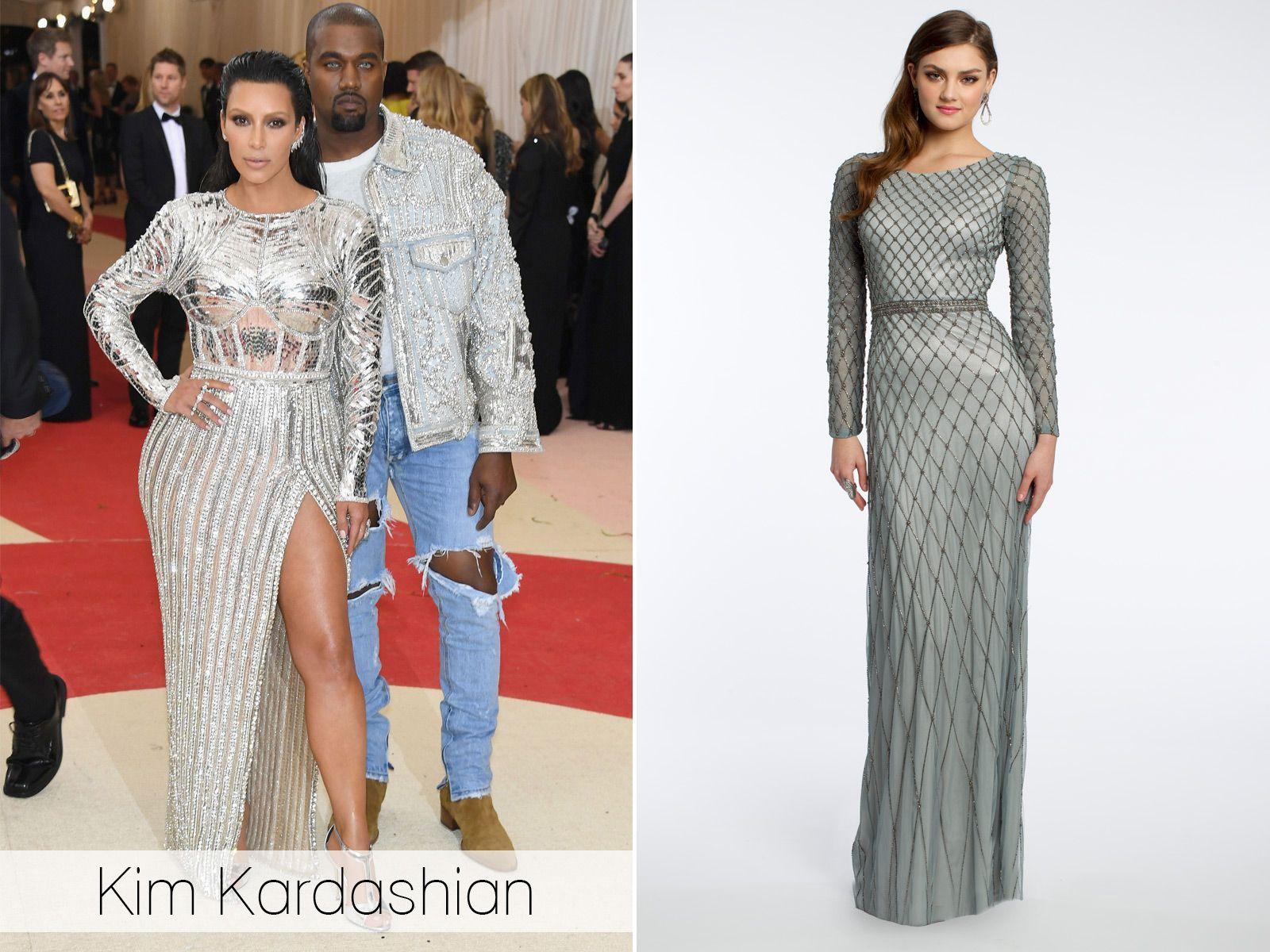 Kim kardashian met gala camille la lookalikes camillelavie