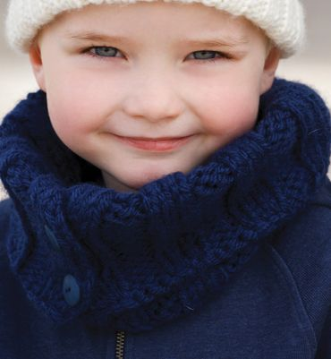 tricoter un snood garcon