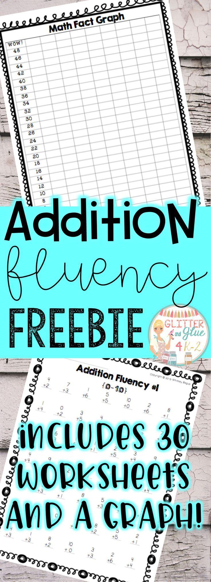 Addition Fluency Freebie: Sums to 10 | 2nd grade math | Pinterest ...