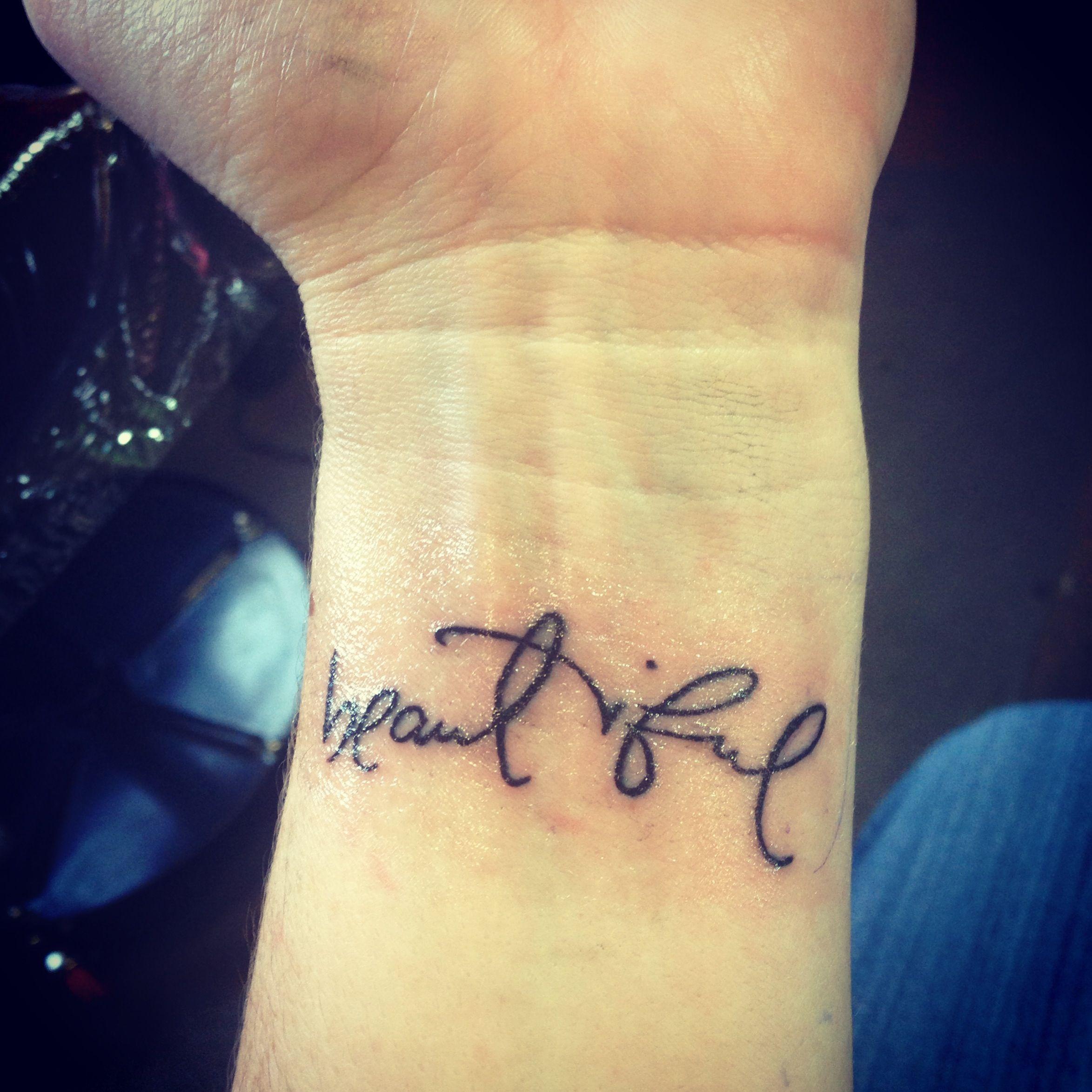 My beautiful wrist tattoo mark at seven seas tattoo in for Body art tattoos lincoln