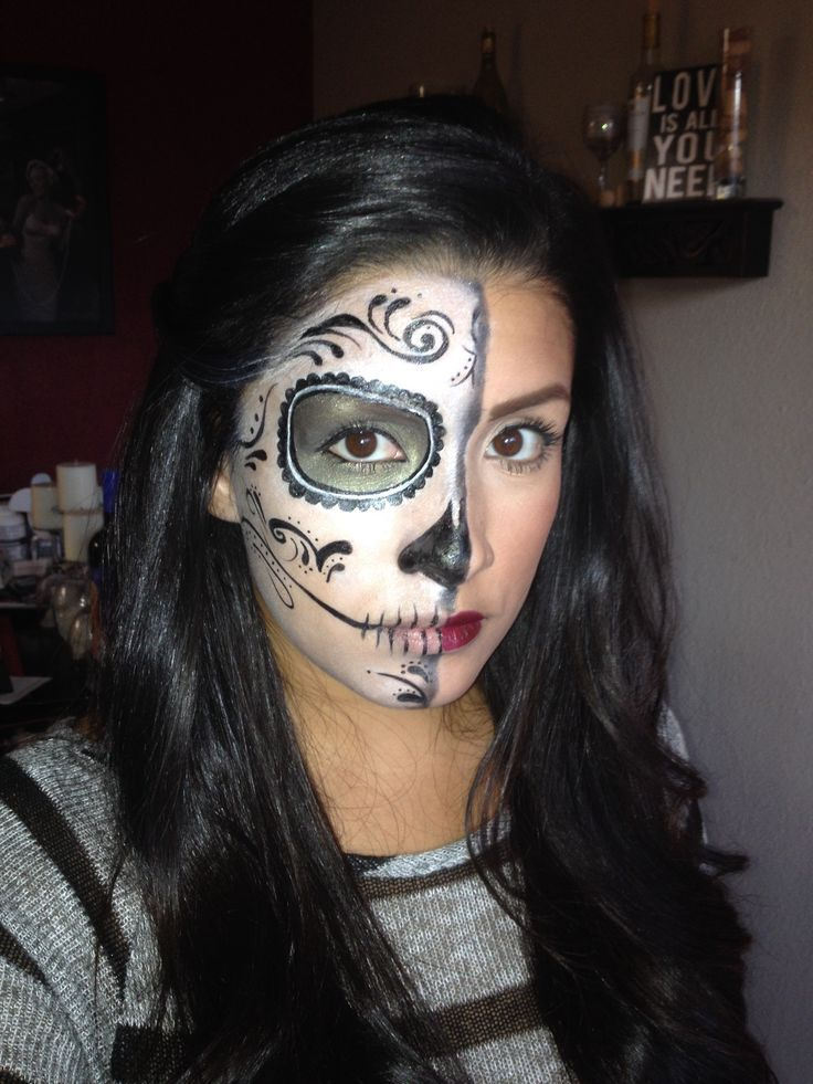 Day Of The Dead Halloween Makeup Ideas Halloween Pinterest