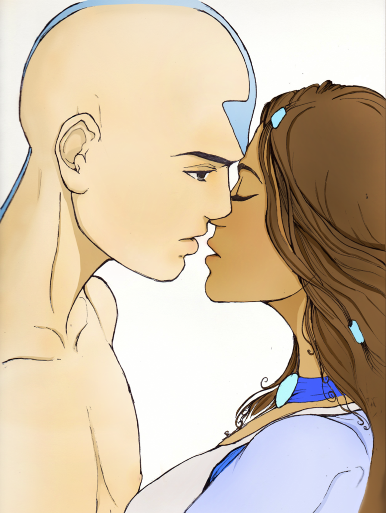 Kataang colored by miki94 on deviantART Avatar airbender