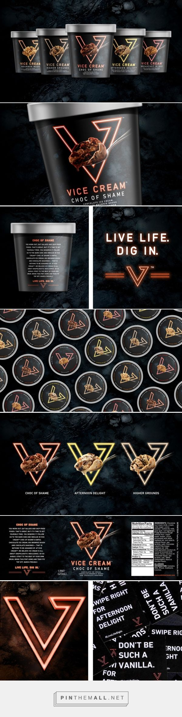 Vice Cream packaging design by Interact Boulder - http://www.packagingoftheworld.com/2016/11/vice-cream.html