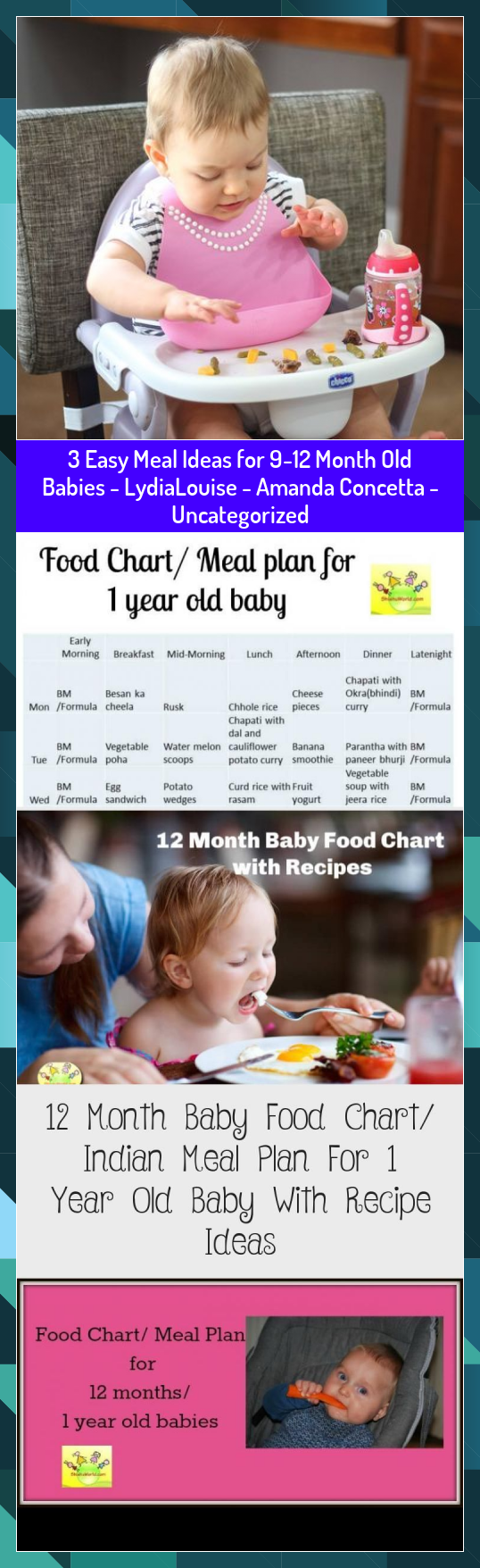 3 Easy Meal Ideas for 912 Month Old Babies  LydiaLouise  Amanda Concetta  Uncategorized