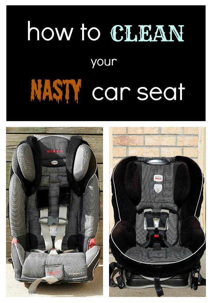 How To Clean Your Dirty Car Seat Including The Harness