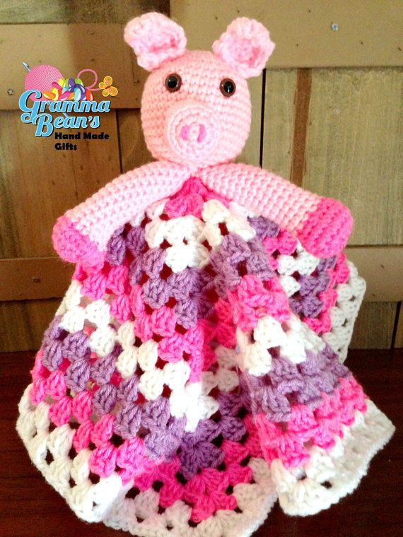 Petunia Pig Lovey Pattern by grammabeans on Etsy, $4.00   Baby ...