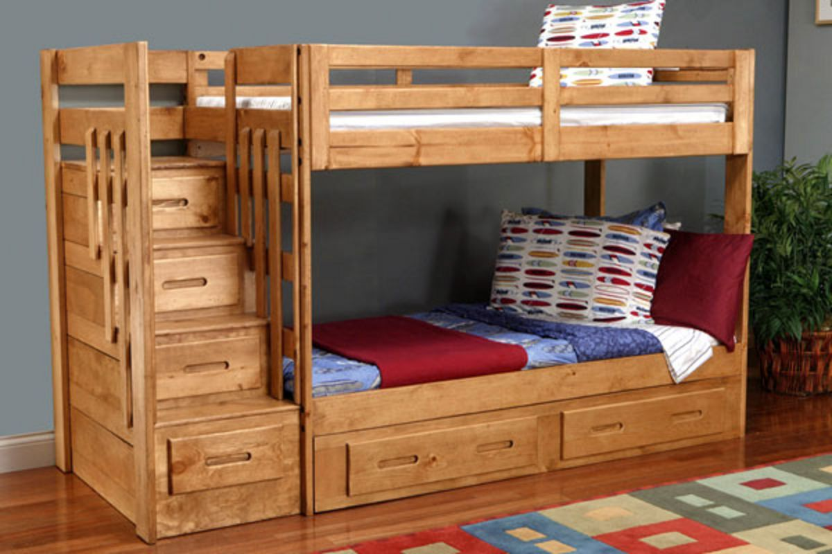 Loft bed with desk and trundle  Found it at Wayfair  Reece  Twin Over Full Bunk Bed with