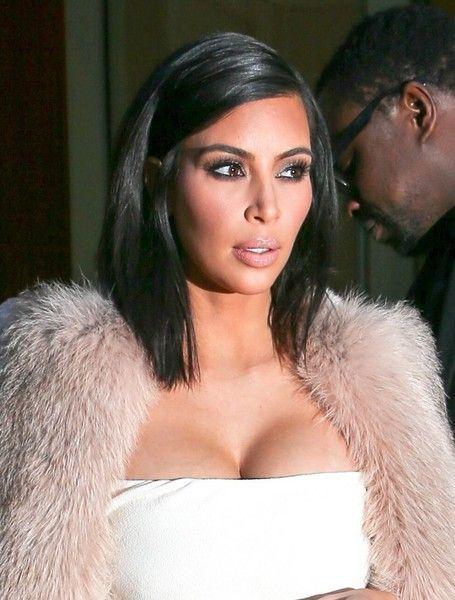 Kim Kardashian Mid Length Bob Kim Kardashian Short Hair Kim Kardashian Hair Hair Beauty