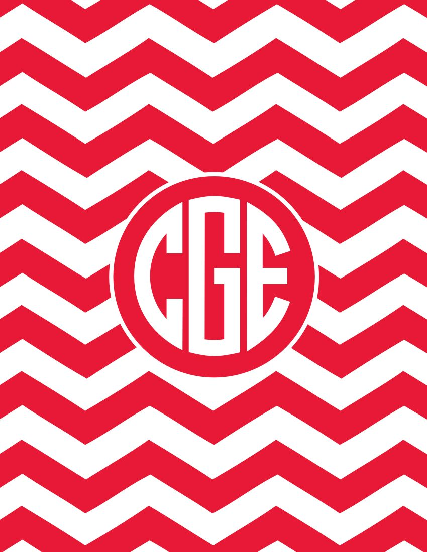 Create your own Iphone Monogram Background