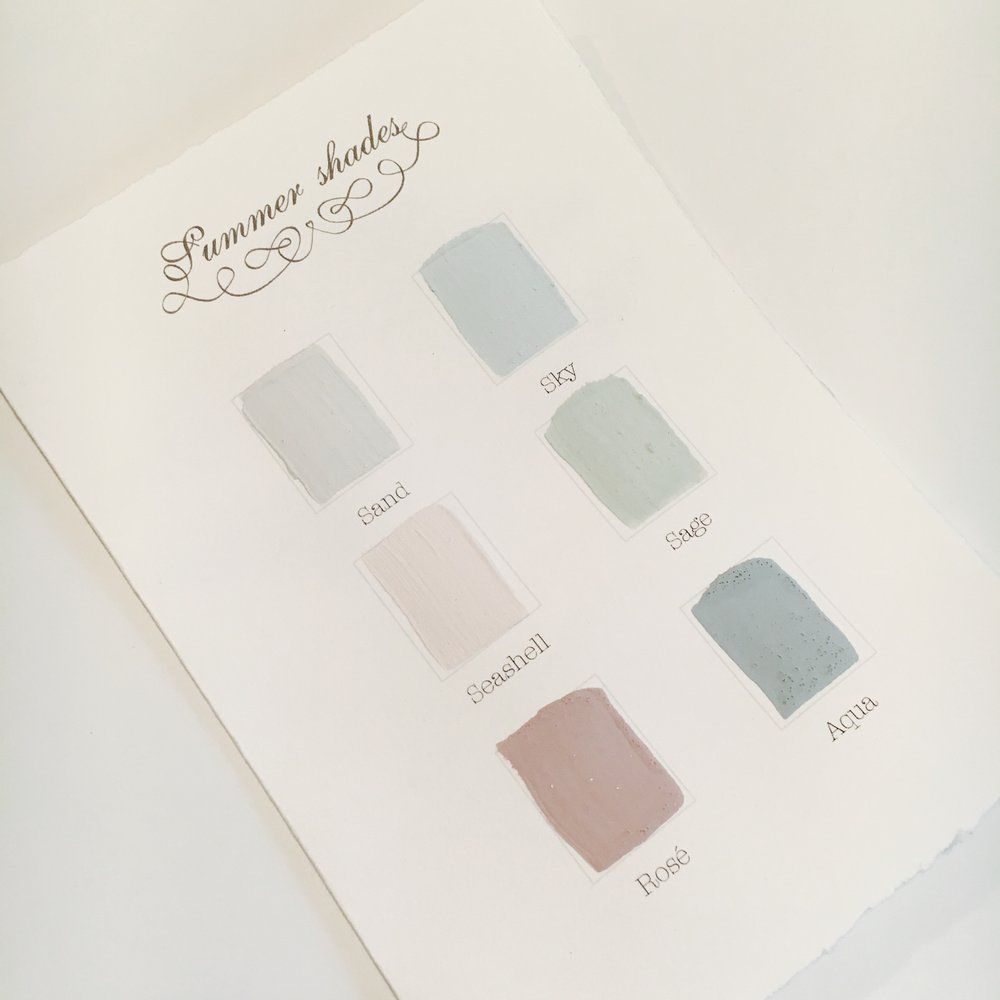 Image of Kalklitir - Color Sample Cards - Summer Shades ... : ventilation i hus : Inredning
