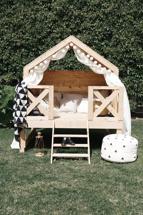 Luxury Play House, Beach Bungalow, Outdoor Playhouse, Unique furniture, Kids outdoor furniture, Small Home, Montessori Bed, Tiny House