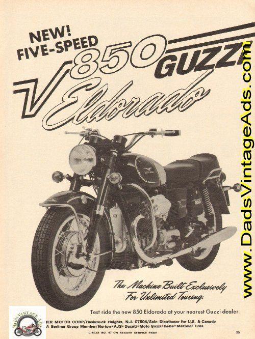 1973 Moto Guzzi 850 Eldorado – Unlimited Touring | Vintage Moto ...